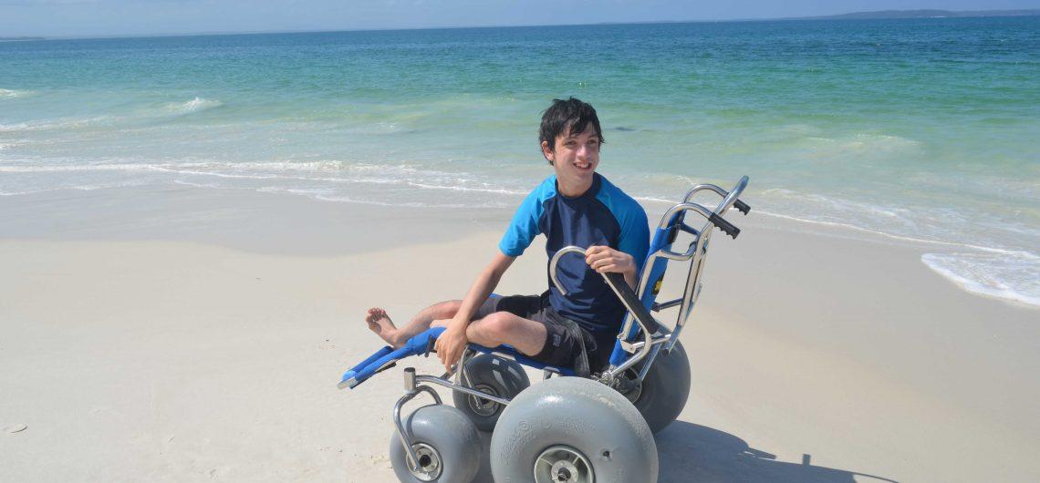 Wheelchair beach access