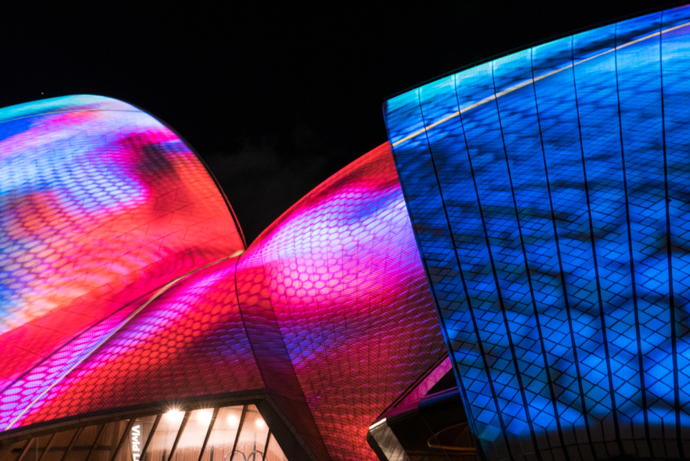 The Opera House is a highlight of Vivid Sydney